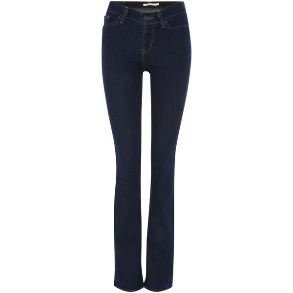 Levi's 715 mid rise bootcut jean in lone wolf ($130) ❤ liked on Polyvore featuring jeans, black, women, black zipper jeans, levi's, mid rise bootcut jeans, mid-rise jeans and black bootcut jeans
