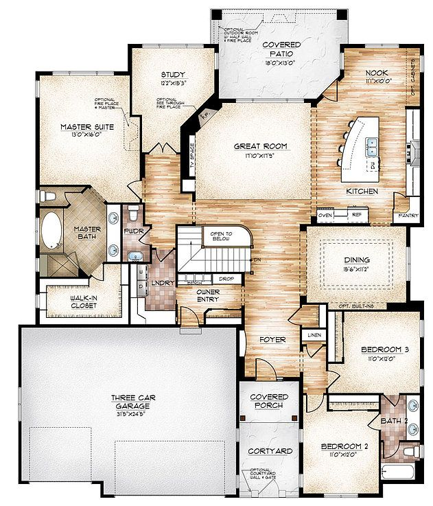 The Edwards Model Plan Offers Compact Ranch Style Living