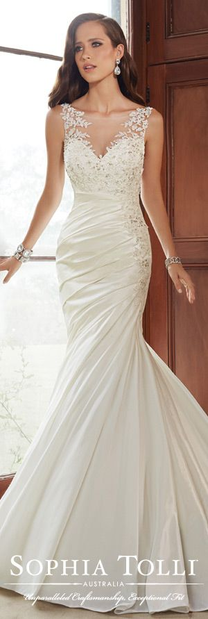 The Sophia Tolli Fall 2015 Wedding Dress Collection - Style No. Y21519 www.sophiatolli.com #weddingdresses #weddinggowns