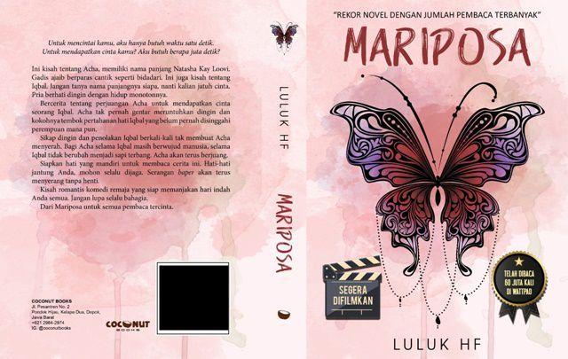 Mariposa Dengan Gambar Novel Kutipan Buku Buku