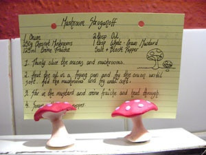 Mushroom Recipe Card Holder