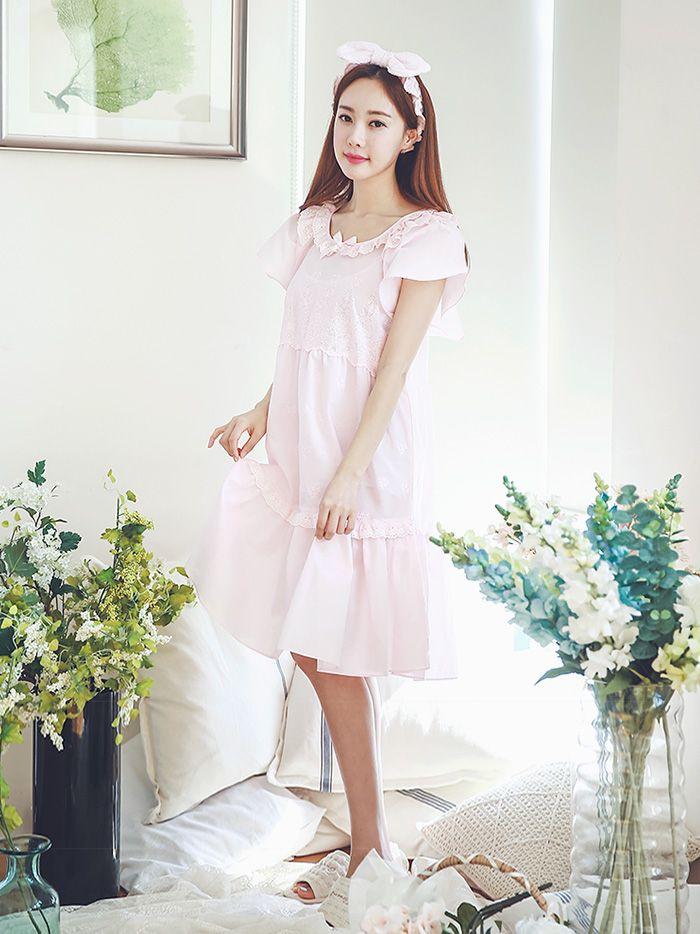 여성_사브리나 순면원피스(화이트,핑크) 16-1001