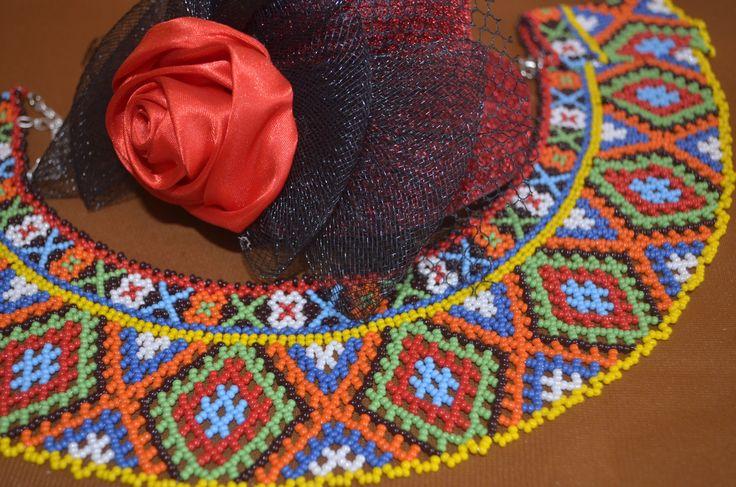 Колье из бисера. Бисероплетение. Мастер класс / Necklaces of beads. Be...