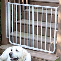 Indoor/Outdoor Dog Gate -White