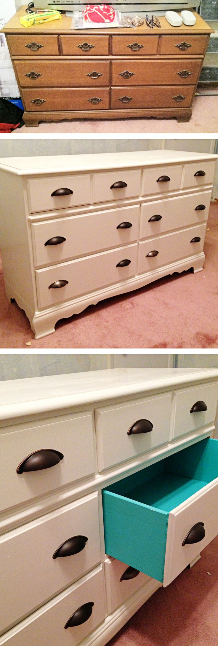 before u0026 after remodel with painted drawers diy sanding and