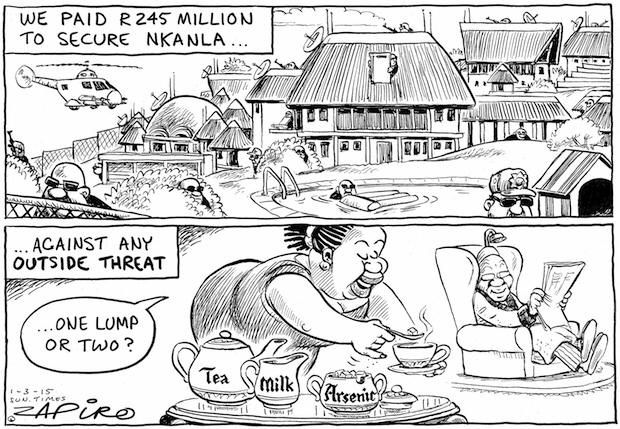 Nkandla gets more money and attention by the ruling party than fixing Eskom