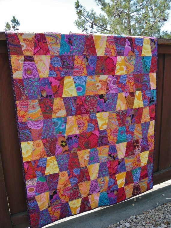 Kaffe Fassett Tumbler Quilt by TheSpottedLamb on Etsy