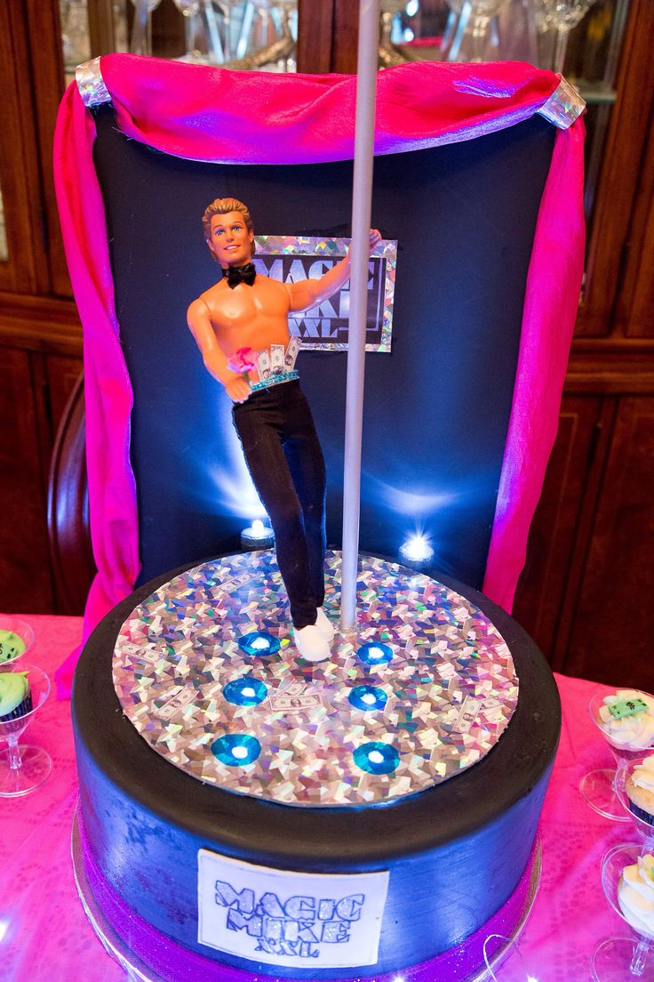 Magic Mike XXL party cake and cupcakes. Male stripper cake! Designed by Sweet Inspirations by M.E. in Melbourne, FL, USA Could also be used for bachelorette party cake.