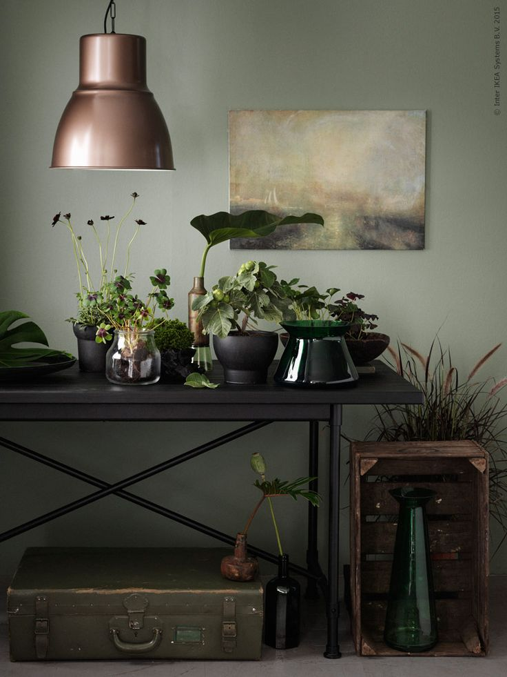 Moody and green botanical plant styling | TOUCH den här bilden by IKEA Sverige