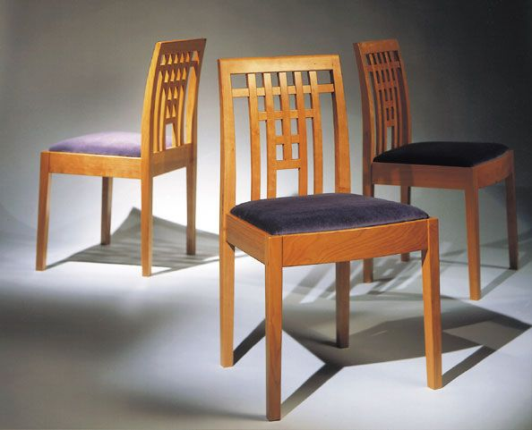 Grid Back Chairs; howard hatch
