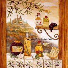 mediterranean artwork by Linda Paul