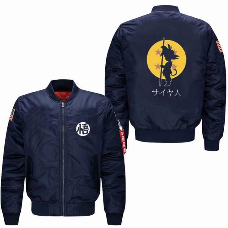 2017 Dragon Ball Animate spring autumn men's leisure jacket collar code Air Force pilots jacket