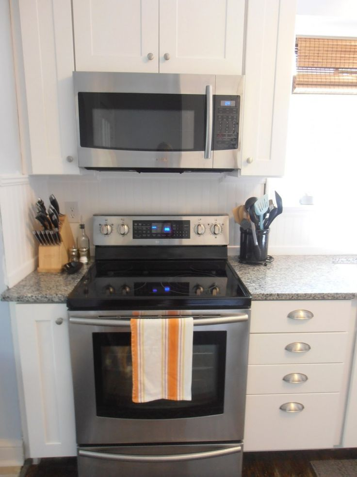 Mount Countertop Microwave Over Stove : to install an over the range microwave with no cabinet ... Microwave ...