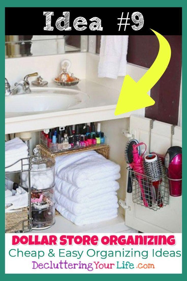 Dollar Store Organizing Bathroom Organization Ideas On A Budget