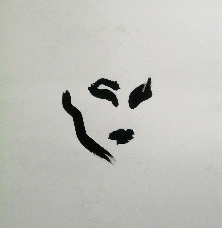 Melancholia, tusch, 50x50cm