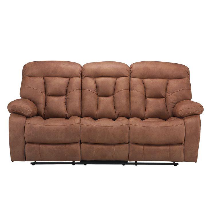 Relaxsofa Hankey (3-Sitzer) - Microfaser - Hellbraun, Nuovoform Möbel, Wohnzimmer, Sofas & Couches, Nuovoform Jetzt bestellen unter: https://moebel.ladendirekt.de/wohnzimmer/sofas/2-und-3-sitzer-sofas/?uid=dff57e87-e384-5f2e-98db-55a5135f198d&utm_source=pinterest&utm_medium=pin&utm_campaign=boards
