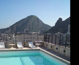 Near Copacabana Beach, rooftop pool at Copacabana Mar Hotel, in Rio de Janeiro, Brazil.  photo by TravelDreams