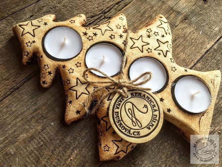 Svícny | svícen stromeček | Andelske-svetlo.cz | Keramické výrobky
