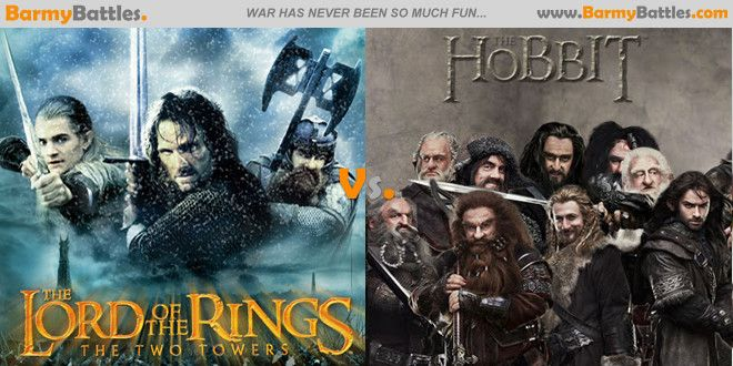 Lord of the Rings Vs The Hobbit.  it's up to you to decide which one is the best. #Thelordoftherings #thehobbit #peterjackson #jrrtolkien #middleearth Vote Now: http://www.barmybattles.com/2013/05/31/lord-of-the-rings-vs-the-hobbit/