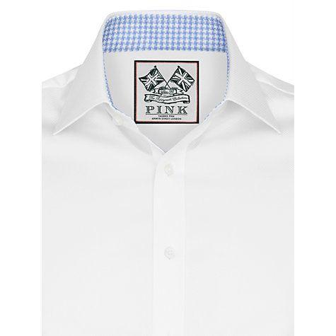 Buy Thomas Pink Watling Textured Long Sleeve Shirt, White Online at johnlewis.com