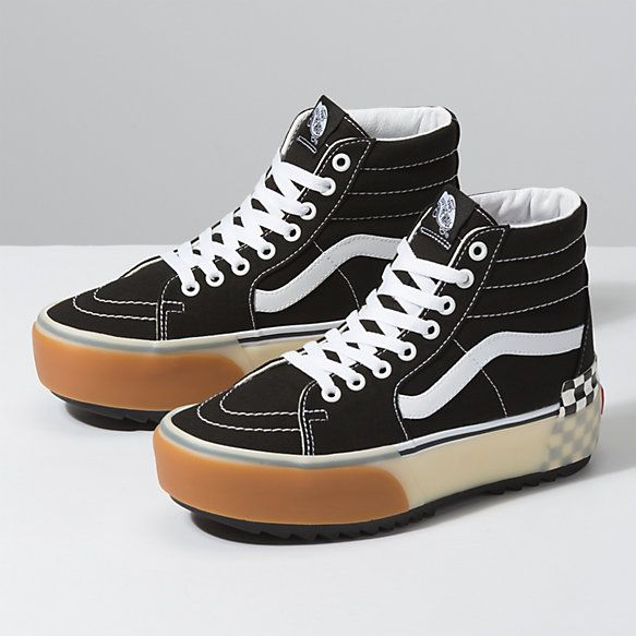 Checkerboard Sk8 Hi Stacked | Shop Classic Shoes | Cute