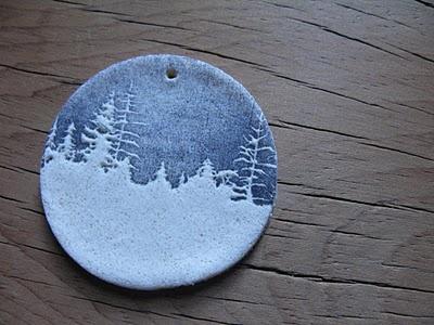 stamped/embossed salt dough ornaments