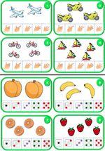 Les cartes à compter 3, 4 et 5