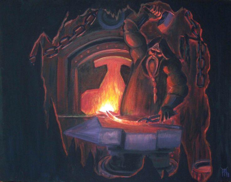 Norse Mythology: Smith - dark elf, and inhabitant of Svartalfheim.