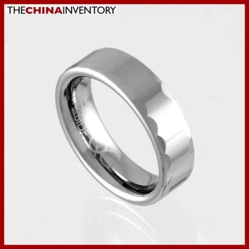 6MM SIZE 8.5 FACETED TUNGSTEN CARBIDE BAND RING R0915