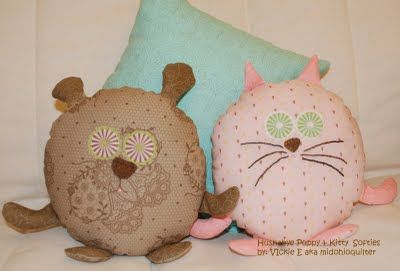 Puppy and Kitty softies step-by-step tutorial