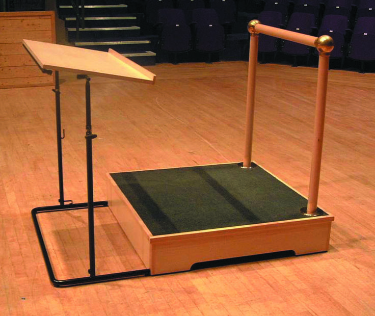 The Amadeus Conductor Podium With Fixed Rail Things I