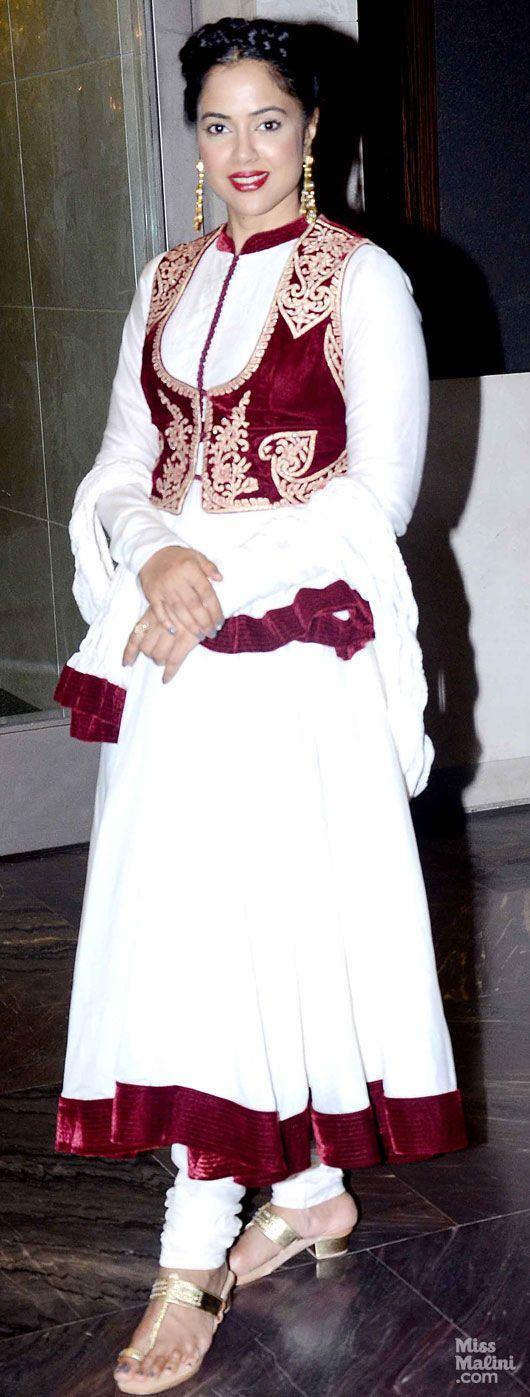 Get This Look: Sameera Reddy in Biba by Rohit Bal