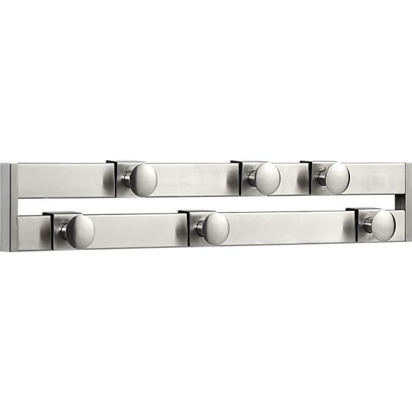 Jig Silver Coat Rack in Entryway Storage | Crate and Barrel