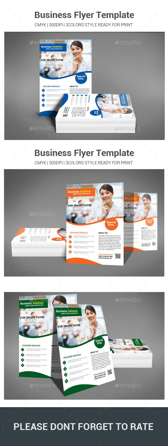 Business Flyer Template #advertising #multipurpose  • Download here → https://graphicriver.net/item/business-flyer-template/20992086?ref=pxcr