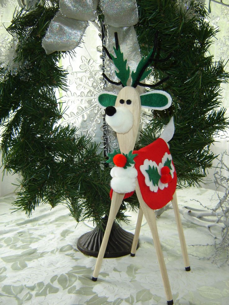 Wooden Spoon Reindeer Pattern Woodworking Projects Plans