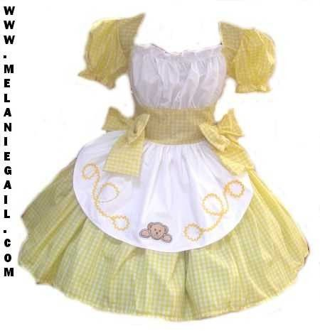 goldilocks halloween costume dress yellow gingham with bear applique womens - Goldilocks Halloween Costumes