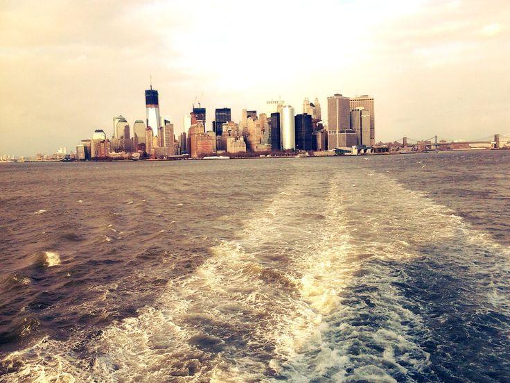 Манхэттен, нью йорк, вода, мост, небоскрёб обои, картинки, фото