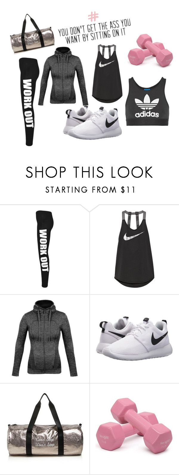 """WORKOUT SET"" by idahedbom on Polyvore featuring WearAll, NIKE, Twelve NYC and adidas Originals"