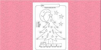 Vianočný stromček – vyfarbovanie podľa čísel.