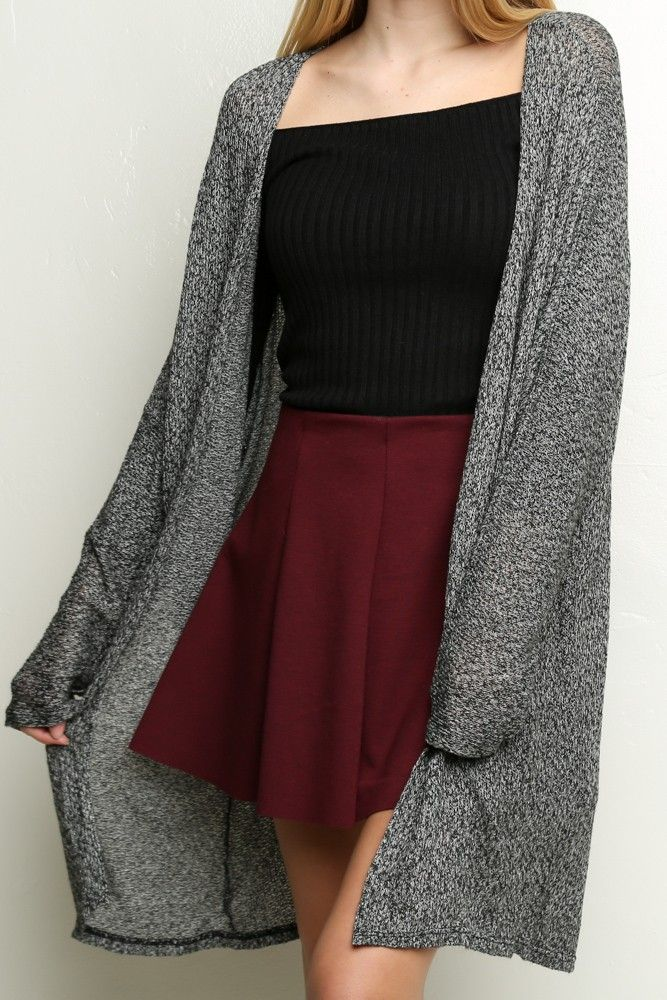 Brandy ♥ Melville | Eyren Kimono - Outerwear - /* how in f*ck is a long sweater called a kimono? yet still... */