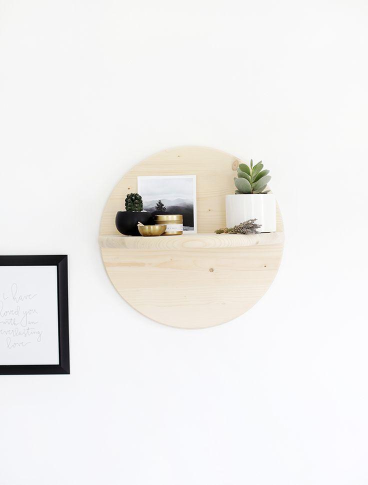 DIY Circle Shelf @themerrythought