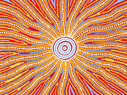 aboriginal art sun