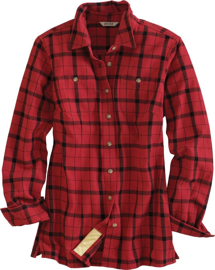 The women's Free Swingin' Flannel Shirt from Duluth Trading Company is a flannel shirt that extends your reach for Paul Bunyan-sized feats. Fluffy-soft shirt features a bi-swing back and underarm gussets for freedom of movement.