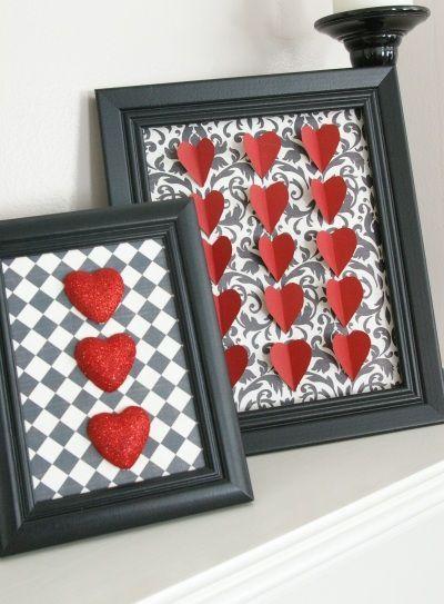 Portaretratos de corazones en 3D para San Valentin
