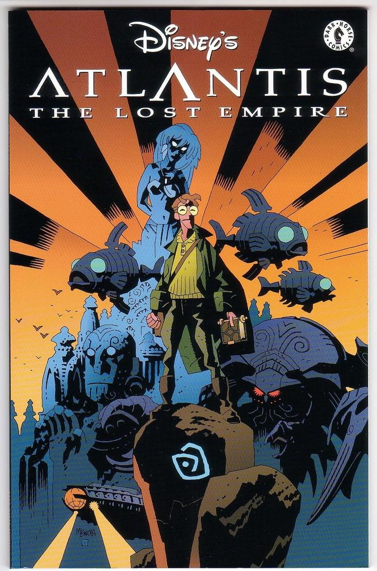 Disney's Atlantis The Lost Empire Comic Book Adaptation by Mike Mignola (2001)