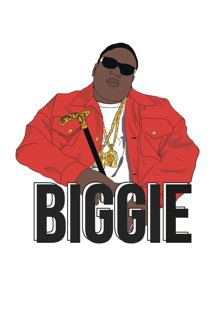 Illustration of Biggie.   #Biggiesmalls #biggie #notoriousbig #hiphop #illustration #music #rap #90s #illustrate #handdrawn #handmade #poster #print #design #graphicdesign #typography