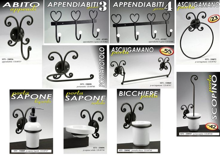 Bagno Toilet Paper Or Towel Holder For Bidet Or Bath, Wrought Iron Black Decor; Complete Bathroom Set: Amazon.co.uk: Kitchen & Home