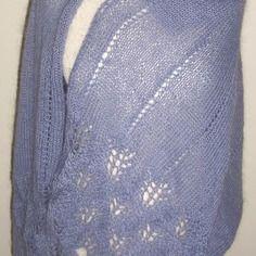 """Etole maille dentelle """"comme une caresse"""", tricotée main en…"""
