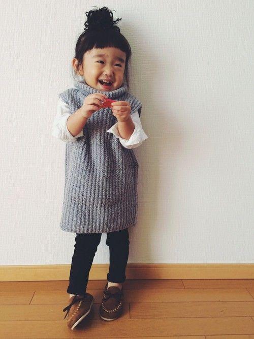 ririsanさんのニット・セーター「韓国子供服 」を使ったコーディネート