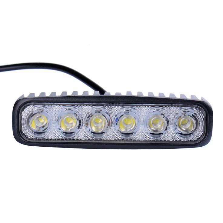 2 Pieces/Lot 6INCH 18W MINI LED BAR 12V LED WORK LIGHT SPOT FLOOD FOG LAMP FOR OFFROAD BOAT TRUCK ATV 4x4 LED DRIVING LIGHT ** Nazhmite na izobrazheniye dlya boleye podrobnoy informatsii.